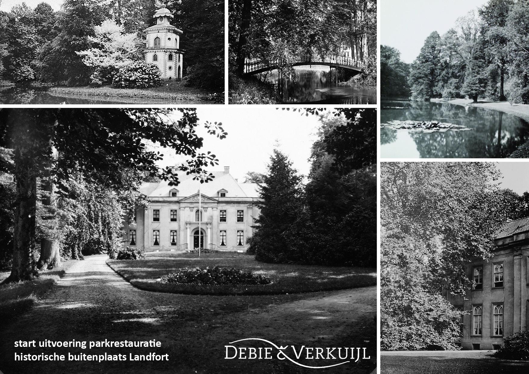 Parkrestauratie Gestart Op Historische Buitenplaats Huis Landfort Te Megchelen